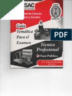 Guía tematica exament tecnico profesional USAC