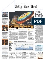 The Daily Tar Heel for October 15, 2010