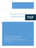 La Tercera Ley de La Termodinámica