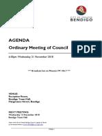 20181121 Council Agenda 21 November 2018
