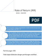 Point 2_bagian Chelle_Internal Rate of Return (IRR)