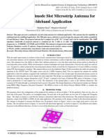 Design of Multimode Slot Microstrip Antenna for Wideband Application