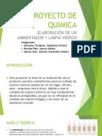 Proyecto de Quimica Limpiador de vidrios