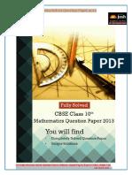 Class 10 Mathematics 2013 Solutions 2