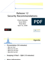 Release Security Recommendations