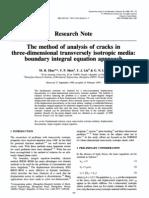 Analysis of Cracks