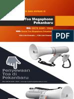 Penyewaan Toa Di Pekanbaru | WA 0878 9381 1922