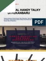 Sewa Handy Talky Pekanbaru | WA 0878 9381 1922