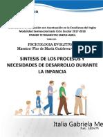 Sintesis Desarrollo Durante Infancia