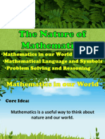 The Nature of Mathematics (1)