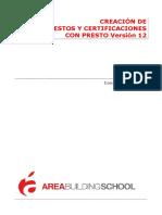 Creación de Presupuestos y Certificaciones Con PRESTO-Tema 1