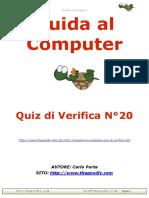 Guida al computer - Quiz di verifica N°20