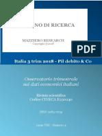 Italia 3 Trim 2018 - Pil Debito & Co