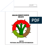 Analisa Komoditi Ekspor 2004-2010 Sektor Pertanian, Industri, Dan Pertambangan