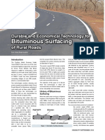 Durable and Economical Technology for Bituminous Surfacing of Rural Roads in India