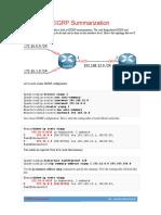 CCNA EIGRP Summarization