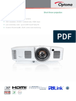 Optoma GT1080 Projector Manual