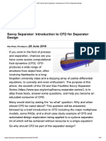 Introduction to CFD for Separator Design