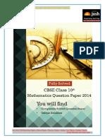 X 2014 Mathematics Local 1 Solutions