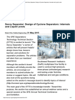 Design of Cyclone Separators- Internals and Liquid Levels