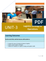 911860150Unit 3 Logistics Strategy and Operations