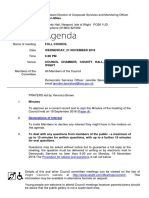 November 2018 Full Council agenda