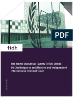 The Rome Statute at Twenty (1998-2018)