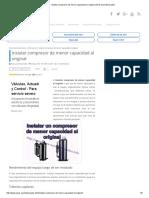 Instalar Compresor de Menor Capacidad Al Original _ Aires Acondicionados