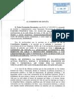 Al Gobierno VOX solicitó en 2017 una medida jurídica de aplicación del derecho de asilo político en apoyo a ciudadanos venezolanos ante el Gobierno de España