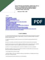 Specificaţie tehnică privind ancorarea armăturilor cu răşini sintetice la lucrările de consolidare a elementelor şi structurilor din beton armat