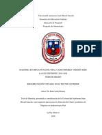 MAESTRIA EN IMPLANTOLOGÍA ORAL UAJMS PRIMERA VERSIÓN SEDE LA PAZ GESTIONES  2015-2018 TESIS DE GRADO