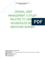 Personal Debt Management a Study Related to Urban Households Debt Servicing Burden [www.writekraft.com]