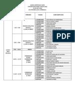 Jadual Bertugas Exam Akhir 2018