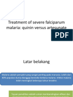 Journal - Treatment of Severe Falciparum Malaria
