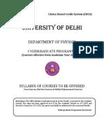 CBCS B.sc. Delhi University
