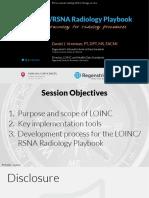 The LOINC/RSNA Radiology Playbook