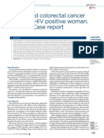 Advanced Colorectal Cancer in Young , HIV Positive Woman. Case Report
