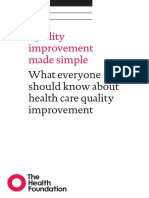 Quality Improvement Made Simple