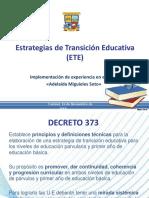 Estrategias de Transición Educativa Ppt