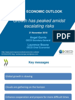 Growth Has Peaked Amidst Escalating Risks Economic Outlook Presentation 11 2018