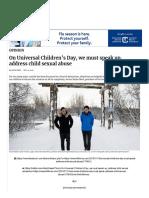 On Universal Childrens Day We Must Speak Up