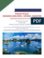 Croaziera de Grup Hong Kong Vietnam Singapore