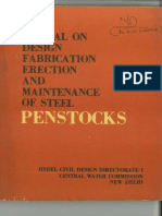 50689514 Manual on Design Fabrication Erection Maintenance of Steel Penstock