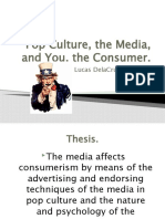 Consumerism and the Media REVISION!