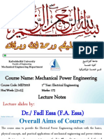 00.0 Mechanical Engineering - Lecture 1.0