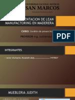Implementacion de Lean Manufactoring en Maderera