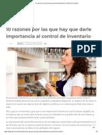 10 Razones Por Las Que Hay Que Darle Importancia Al Control de Inventario