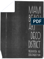 Miami Beach Art Deco District - Preservation and Development Plan - Early 1980s