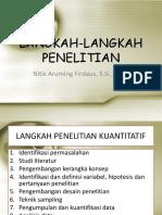 III. Langkah-langkah Penelitian