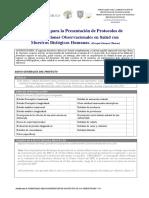Formulario Para La Presentación de Protocolos de Investigación en Salud v1.5 2